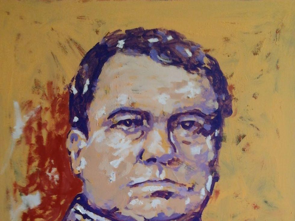1  Rubén Darío, de Miguel Elías. 2014 (146x114  Técnica mixta sobre lienzo)