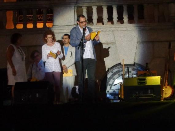 1 Ahmad Yamani leyendo en el acto inaugural del festival de Toledo