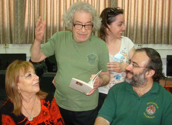 6 Alfredo Pérez Alencart, con Margalit Matitiahu, Beppe Costa y Stefania Battistella, en Galilea (Foto de J. Alencar)