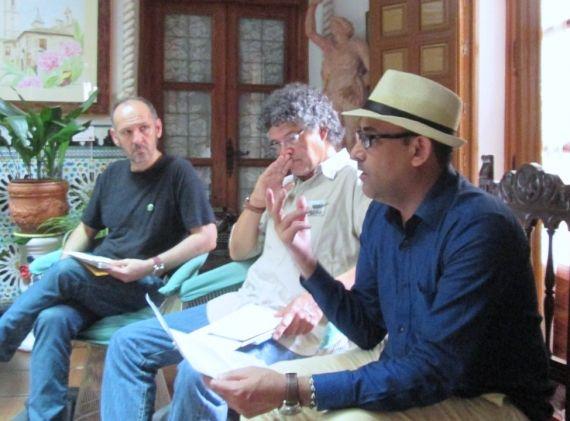 8 Lectura en un patio de Toledo, con Oscar Curieses y Patricio Sánchez
