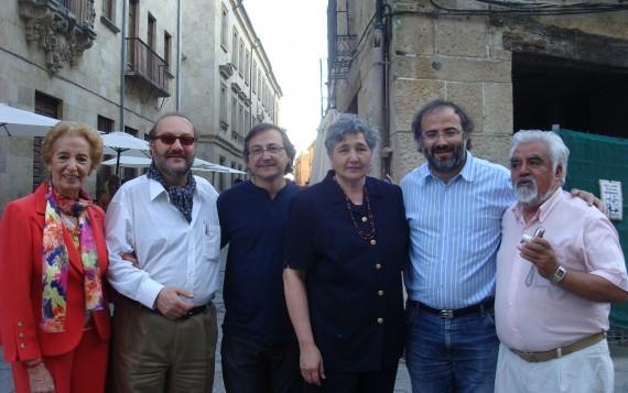 Popescu, con Fernández Labrador, Elssaca, Elías, Alencart y Ben Kotel (foto de Jacqueline Alencar)