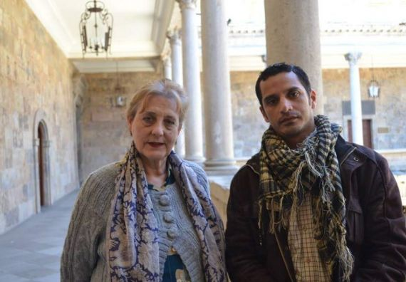 1 Carmen Ruiz Barrionuevo y Néstor Ulloa, en  Salamanca (Foto de Yael Vázquez)