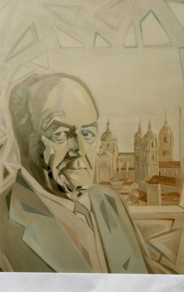 1 Retrato pintado por el francés Sylvain Malet, para Celebración de la existencia