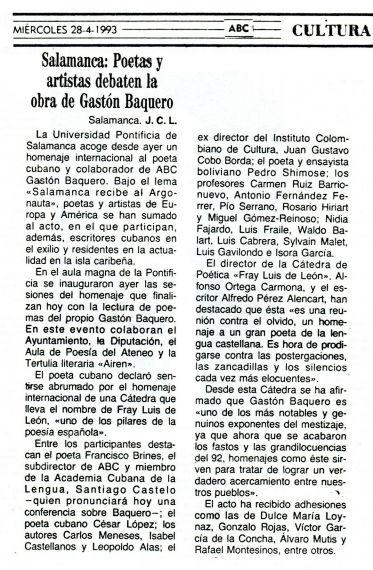 11 Crónica para ABC del joven periodista Juan Carlos López Pinto