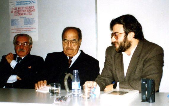 5 Carlos Thorne, Gastón Baquero y Alfredo Pérez Alencart (foto de Jacqueline Alencar, 1994)