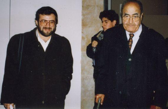 7 Alfredo Pérez Alencart y Gastón Baquerro, en Salamanca (1994, foto de Jacqueline Alencar)