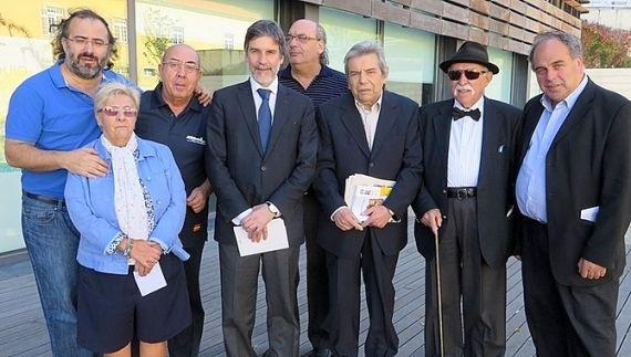 7 Poetas salmantinos con Salvado y el alcalde Luís Correia (foto de Carlos Semedo)