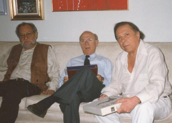 1 Carlos Contramaestre, Alfonso Ortega y Alfonso Montilla en Caracas (Foto de Alfredo Pérez Alencart, 1996)
