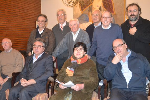 Miembros del jurado y representantes de las hernandades de Peñaranda
