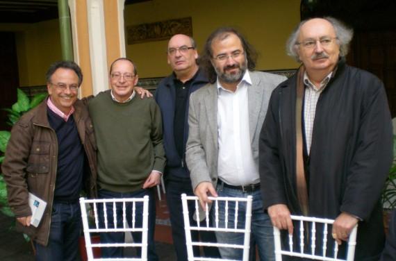 1 José Pulido, Ignacio González, José María Muñoz Quirós, Alfredo Pérez Alencart y Antonio Colinas, Jurados del Premio Nacional de Poesía de Peñaranda de Bracamonte