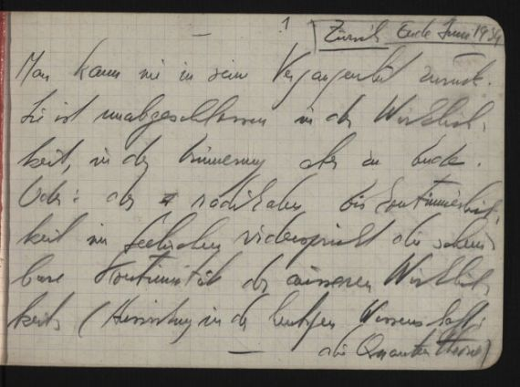 3 Nota de su diario, en Zurich (junio 1934)