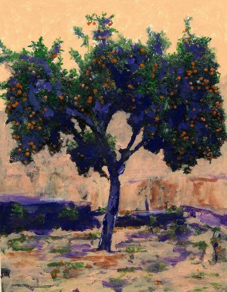 8 Naranjo lleno de frutos, de Miguel Elías