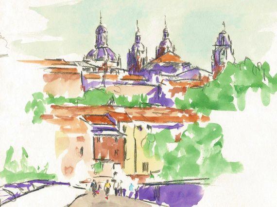 1 Salamanca desde el Puente Romano