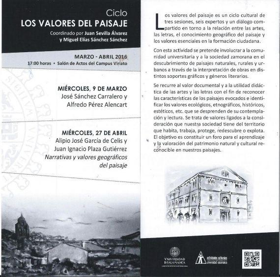 14 Los valores del paisaje (Usal campus Zamora)