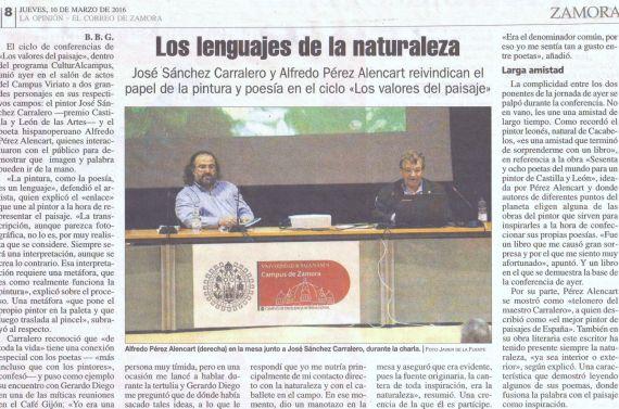 5 Noticia del acto, en La Opinión, de Zamora