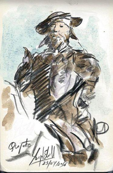 10 Don Quijote, dibujo de Miguel elías (23-4-2016)