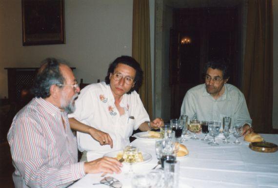13 Carlos Contramaestre, Miguel Cabrera y Antonio Claros, (Foto de A. P. Alencart, Salamanca 1991)