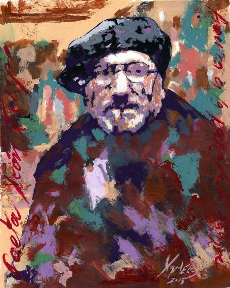 12 Retrato de León Felipe, por Miguel Elías