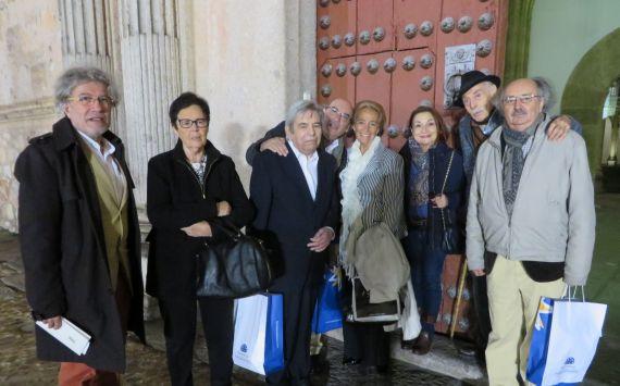 13 Carnicero, Chari Silva, Salvado, Muñoz Quirós, Fernández Labrador, María José, Tundidor y Colinas (XVIII Encuentro. Foto J. Alencar)