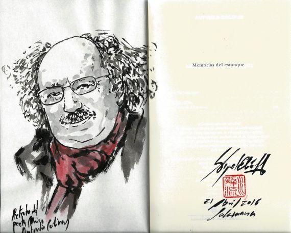 25 Antonio Colinas, reciente retrato hecho por el pintor de los poetas, Miguel Elías