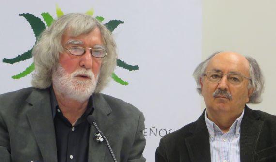 6 Álvaro Alves de Faria y Antonio Colinas (XVIII Encuentro 2015, foto de J. Alencar)