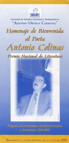 7 Primer homenaje salmantino, 1999, coordinado por A. P. Alencart