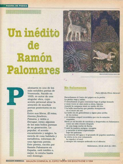 Fray Luis Sobrevuela Salamanca Y Otros Poemas De Ramón