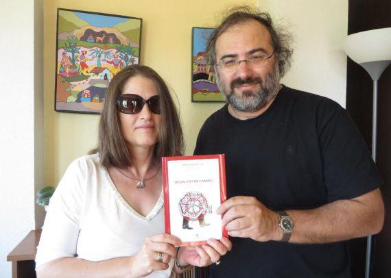 8 la profesora María Koutentaki y Alfredo Pérez Alencart