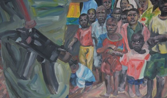 9 Dolor en la guerra 'Niños', del pintor español Fernando García Almeida