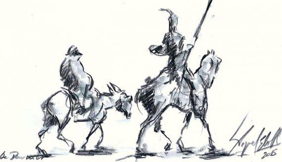 6-boceto-de-don-quijote-y-sancho-de-miguel-elias
