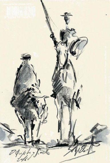 2-don-quijote-y-sancho-boceto-de-miguel-elias