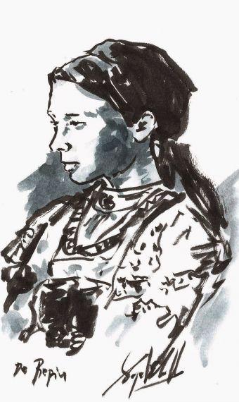 3 Mujer rusa II, de Miguel Elías - copia