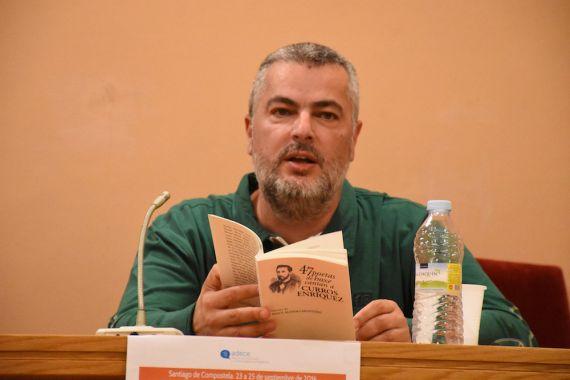 1 El poeta Miro Villar en Santiago de Compostela (septiembre 2016. Fotografía de Héctor Rivas)