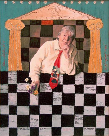1 Gloria Fuertes. Retrato al óleo de María Silvestre