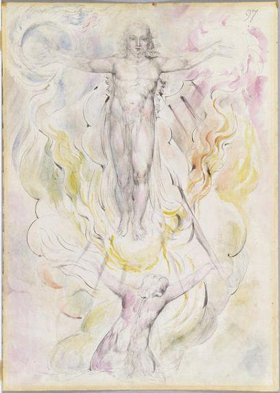 7 Dante adorando a Cristo, de Blake