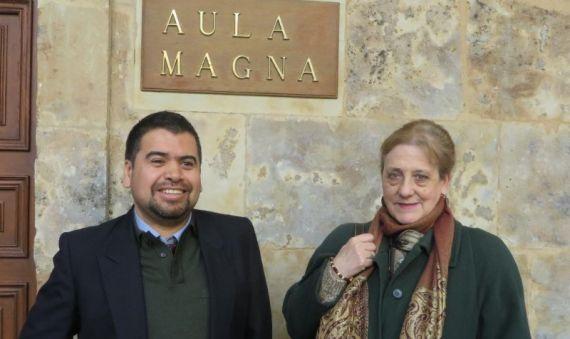 8 Marcelo Gatica y Carmen Ruiz Barrionuevo, directora de su tesis doctoral