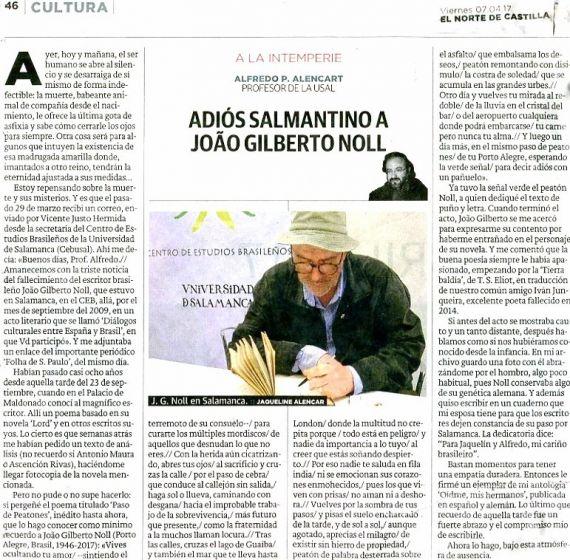 10 Articulo de Alencart dedicado a Noll (El Norte de Castilla, 7-4-2017)