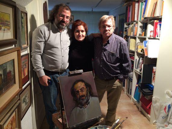 12 Alfredo Pérez Alencart, Jacqueline Alencar (esposa del poeta) y José Carralero