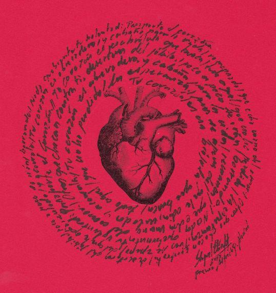 2 Pasaporte el Corazón. Caligrafía sobre el muro de poema de A. P. Alencart, MIGUEL ELÍAS
