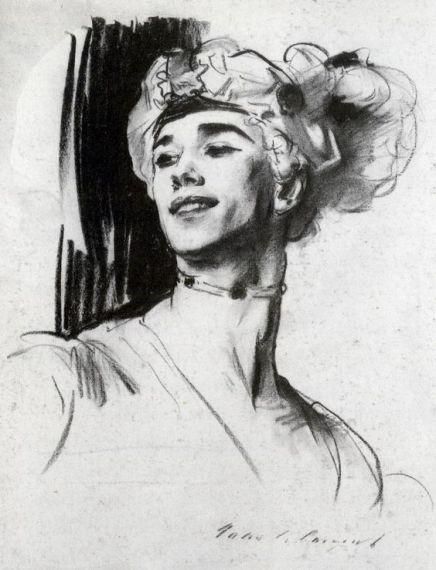 3 John Singer Sergeant, Retrato de Nijinsky en Pavilion d'Armide