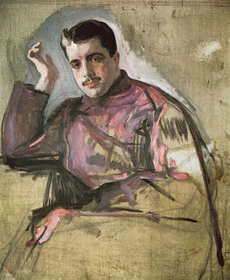 4 Diáguilev en 1909, por Valentín Serov