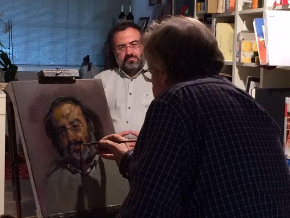 5 Carralero pintando a Alencart