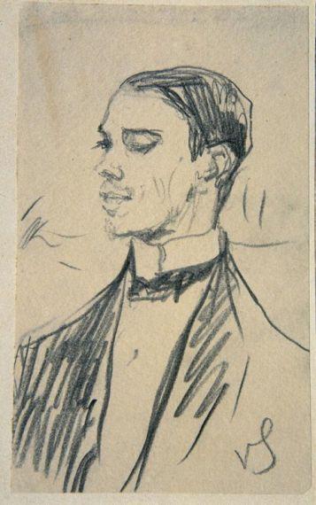 5 Retrato de Vaslav Nijinsky, de Valentin Alexandrowitsch Serow