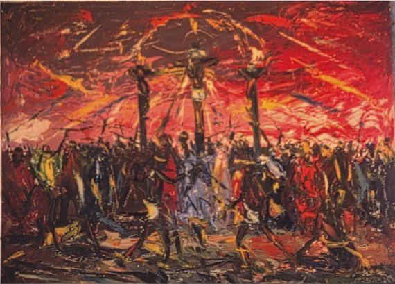 6 La muerte de Jesús, del pintor Usuidi