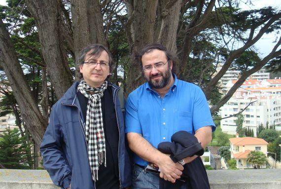 6 Miguel Elías y Alfredo Pérez Alencart en Figueira da Foz, Portugal (Fotografía de Jacqueline Alencar)