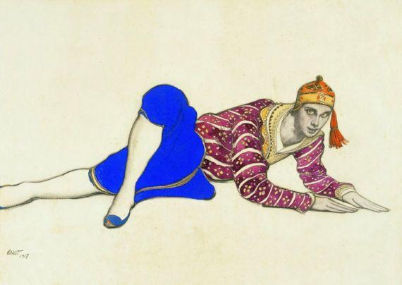 6 Vaslav Nijinsky as Chinese Dancer in Les Orientales, de Leon Nikolajewitsch Bakst