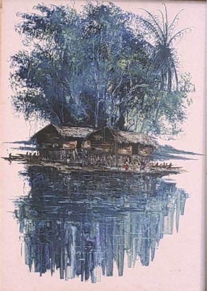 7 Dos chozas en el río, de Mukendi