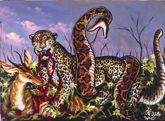 8 Serpiente devorando tigre, de Moké