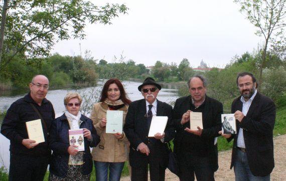 11 Sánchez, Amat, Alencar, Frayle, Amador Martín y Alencart, recordando a Baquero a orillas del Tormes (2014)