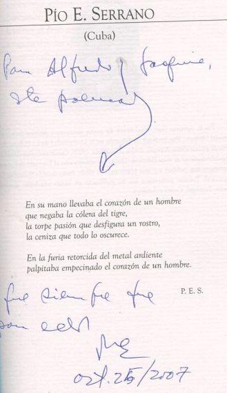 13 Dedicatoria de Pío E. Serrano
